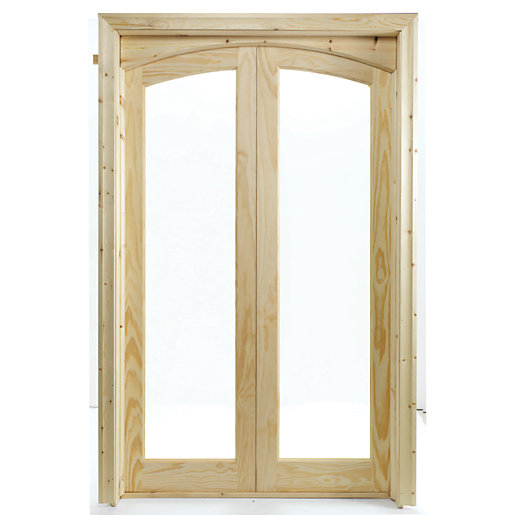 Wickes Newland Fully Glazed Pine 2 Lite Internal