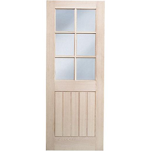 Wickes Geneva Glazed Oak Cottage 5 Panel Internal