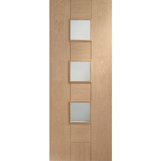 XL Joinery Messina Clear Glazed Oak 8 Panel