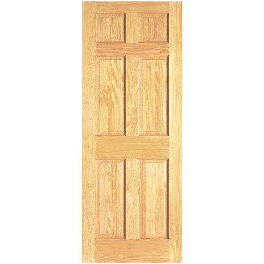 Wickes Durham Clear Pine 6 Panel Internal Door