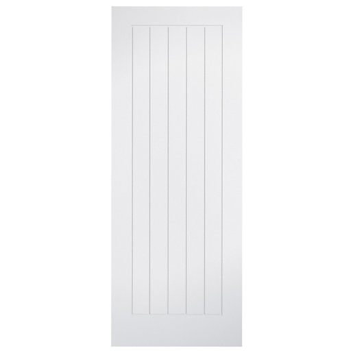 Wickes Geneva Cottage White Primed Solid Core Door