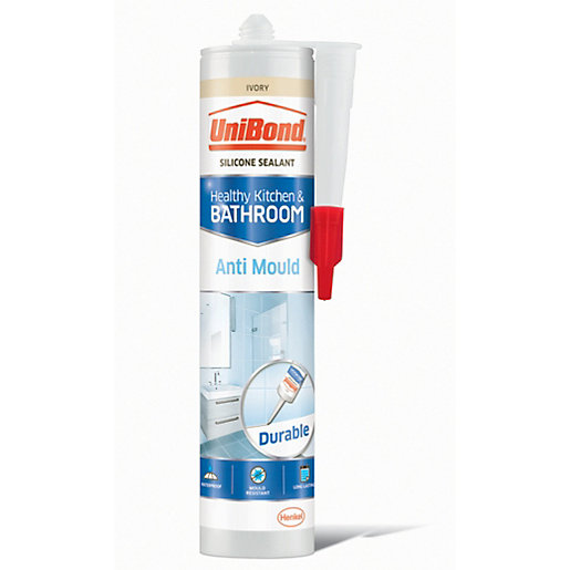 UniBond Anti-Mould Kitchen & Bathroom Sealant Ivory -