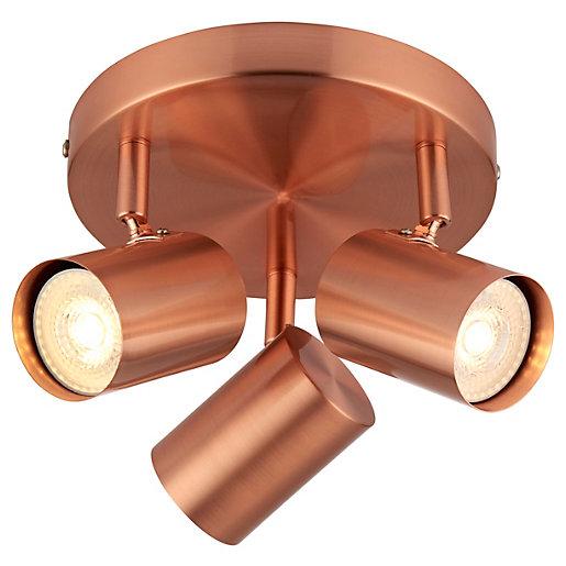 Saxby Tour 3 Spotlight Plate Light - Copper
