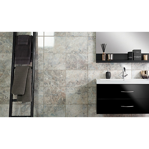 Wickes Avellino Cappuccino Grey Ceramic Wall & Floor