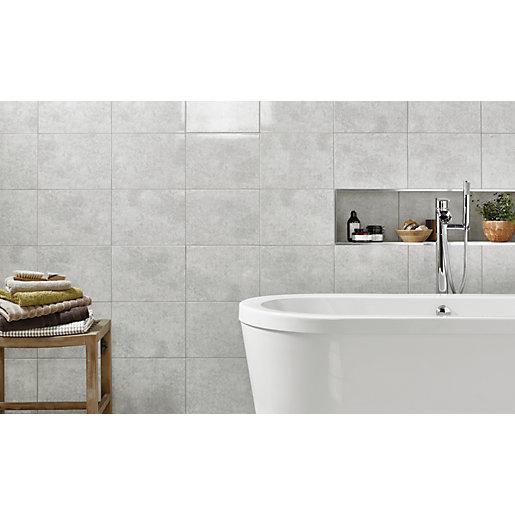 Wickes Tivoli Grey Ceramic Wall Tile - 330