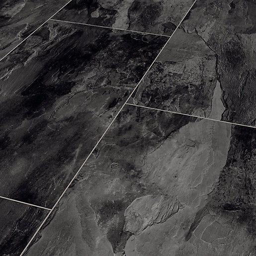 Dark Grey Slate Moisture Resistant Tile Effect Laminate