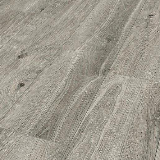 Elderwood Medium Grey Oak Laminate Flooring - 1.48m2