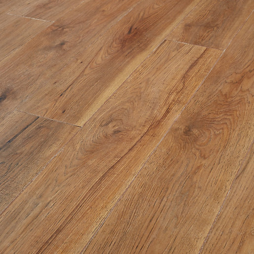 Wickes Rockland Hickory Laminate Flooring - 2.22m2 Pack