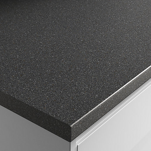 Noir Granite Laminate worktop 600mm x 38mm x