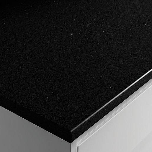 Wickes Laminate Worktop Black Matt 600mm X 28mm X 2m Wickes Co Uk