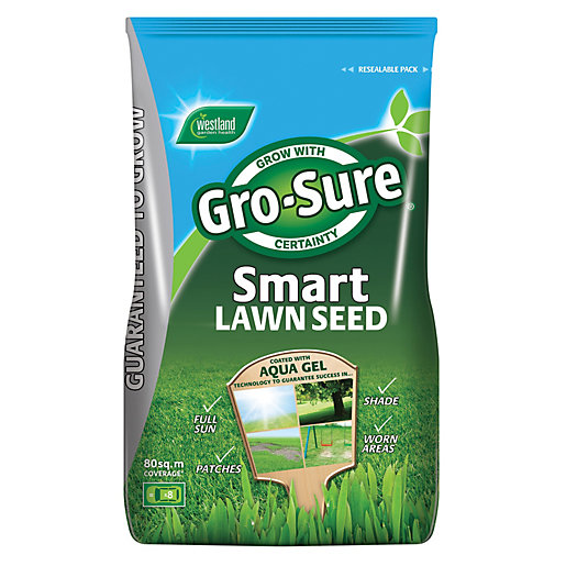 Gro-Sure Smart Lawn Seed Bag - 80m² -