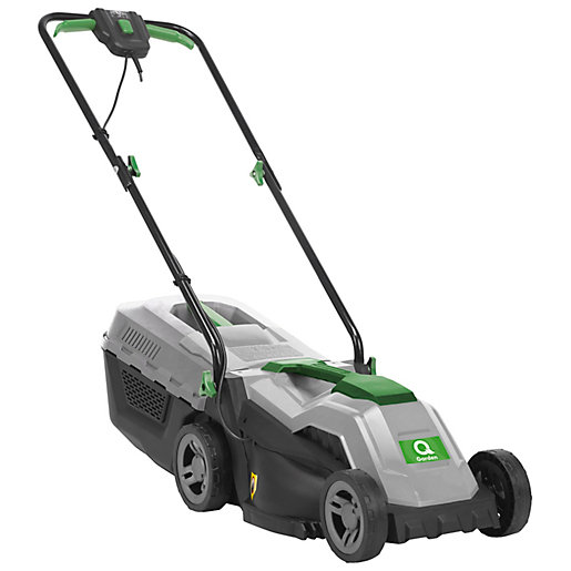 Q Garden 1200W Electric Rotary Lawnmower - 33cm