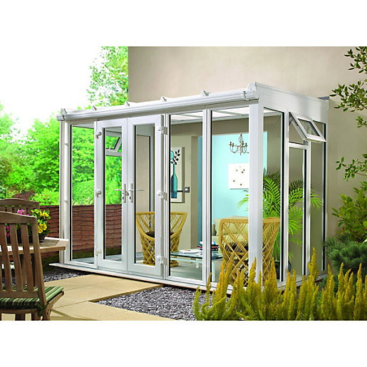 Wickes Lean To Roof Full Glass Conservatory -