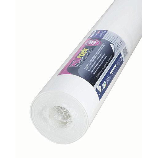 Erfurt Wallrock Fibreliner Double Wallpaper White - 0.55