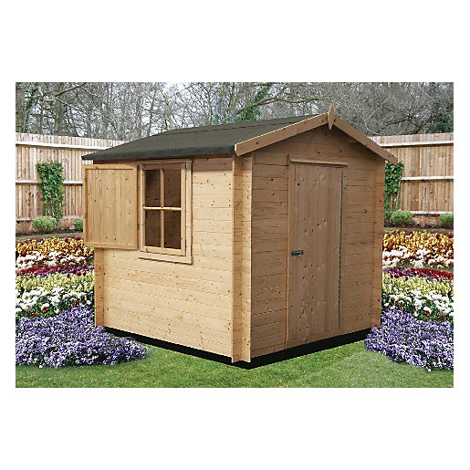 Shire 7 x 7 ft Camelot Log Cabin