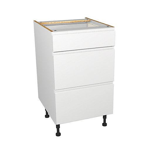 Wickes Madison White Gloss Handleless Drawer Unit -