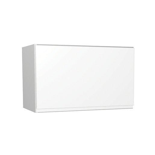 Wickes Madison White Gloss Handleless Narrow Wall Unit