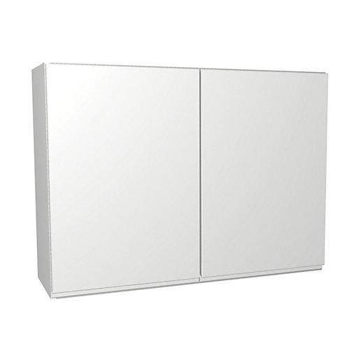 Wickes Madison White Gloss Handleless Wall Unit -