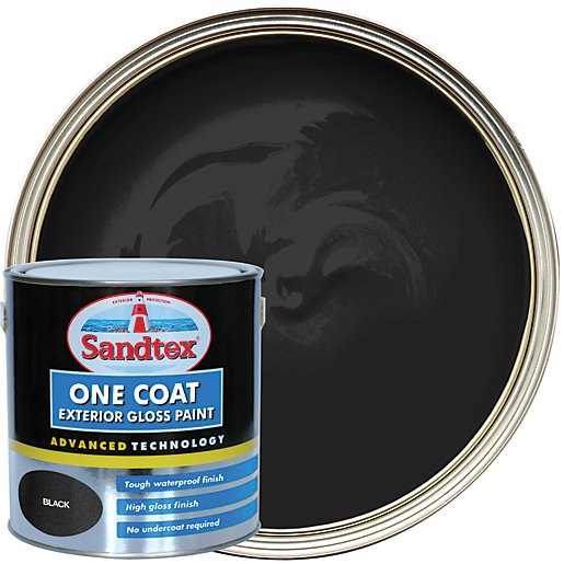 Sandtex One Coat Exterior Gloss Paint - Black