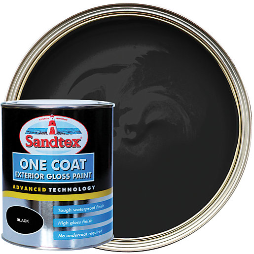 Sandtex One Coat Exterior Gloss Paint - Black