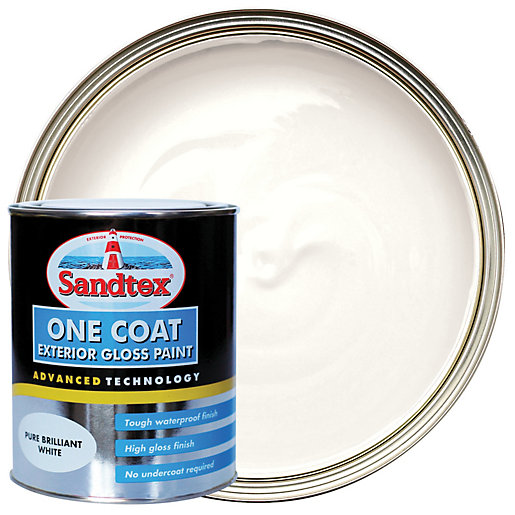Sandtex One Coat Exterior Gloss Paint - Pure