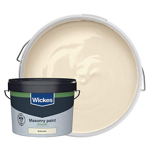 Wickes Masonry Smooth Buttermilk 10L