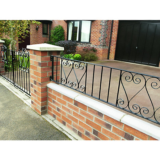 Wickes Chelsea Metal Wall Railing - 365 x