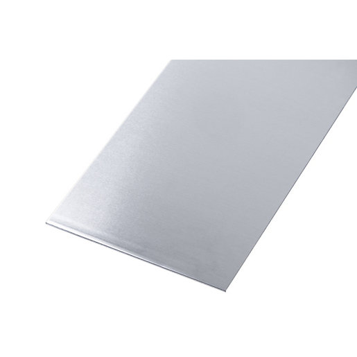 Wickes Metal Sheet Aluminium with Stainless Steel Effect