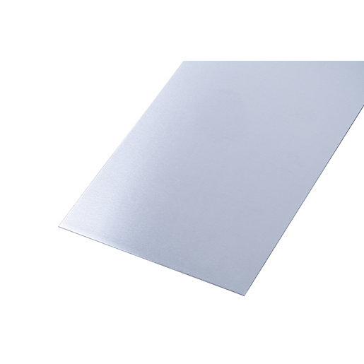 Wickes Metal Sheet Plain Uncoated Aluminium 250 x