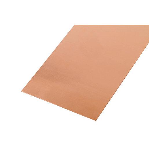 Wickes Metal Sheet Solid Copper 250 x 500mm