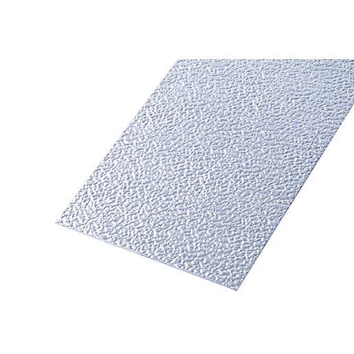 Wickes Metal Sheet Uncoated Aluminium Roughcast Effect -