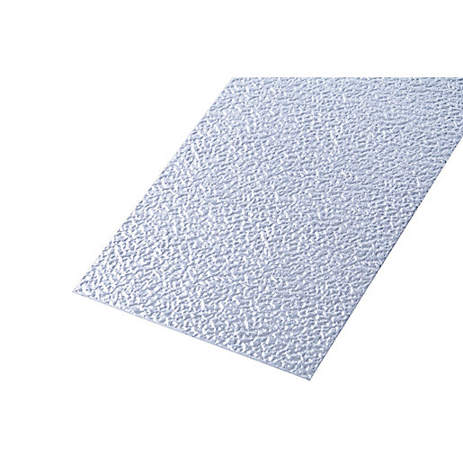 Wickes Metal Sheet Uncoated Aluminium Roughcast Effect 250