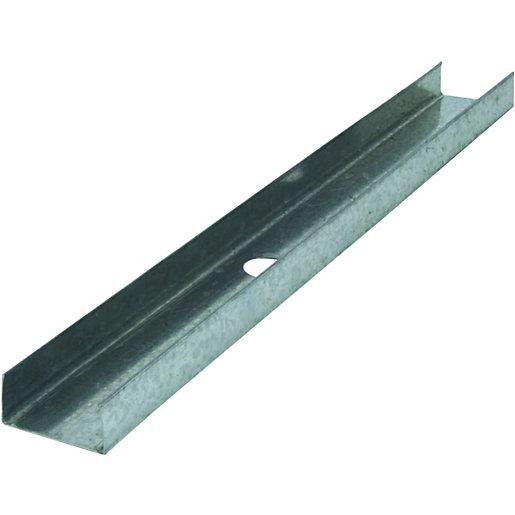 Wickes Galvanised Metal U Channel Studwork - 0.55mm