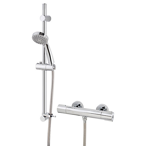Alban Thermostatic Mixer Shower - Chrome