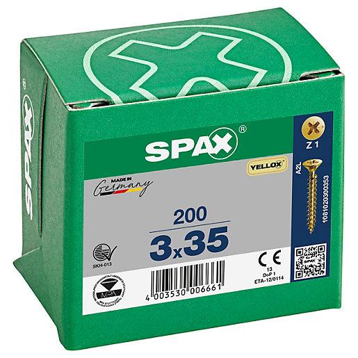 Spax PZ 35mm Countersunk Yellox Screws - Pack