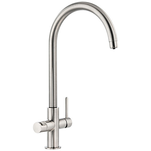 Abode Prothia 3 In 1 Kitchen Tap Brushed