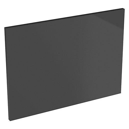 Orlando Dark Grey Gloss Slab Appliance Door (D)