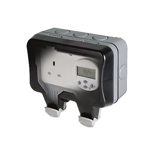 Diagram Masterplug 13a Weatherproof Single Exterior Switched Timer