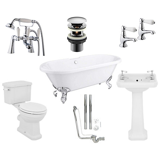 Oxford Traditional Roll Top Bathroom Suite - Roll