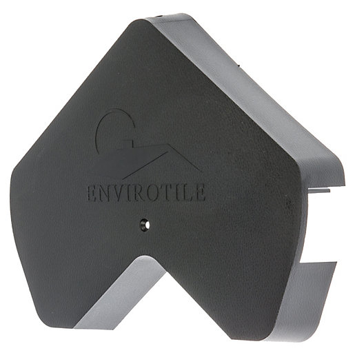 Envirotile Anthracite Gable End Cap - 30 x