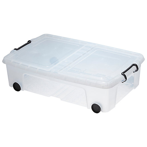 Smart Storemaster Underbed Box with Lid & Wheels