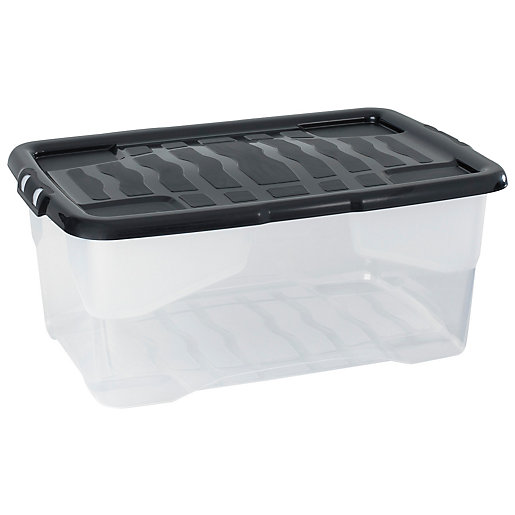Strata Curve Box with Lid 42L Pack of
