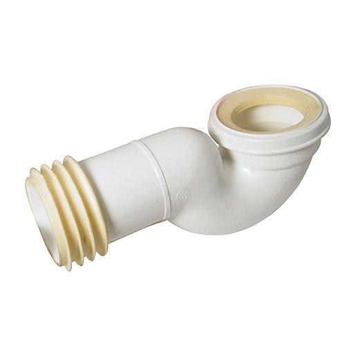 FloPlast Swan Neck Soil Pan Connector - White