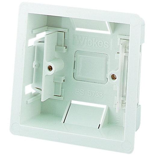 Wickes 1 Gang Dry Lining Box - White