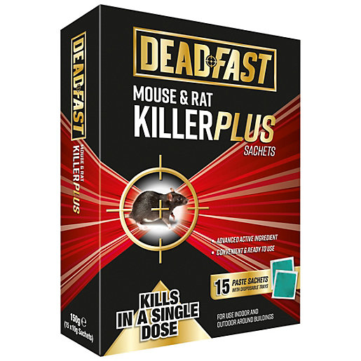 Deadfast Mouse & Rat Killer - 15 Sachets