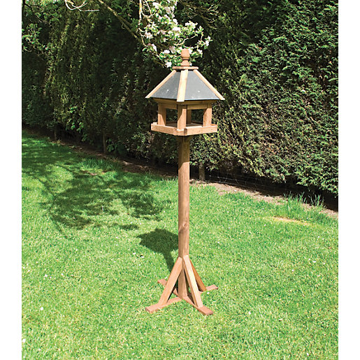 Rowlinson Premium Timber Laverton Bird Table - 2