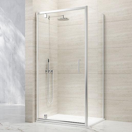 Nexa By Merlyn 8mm Chrome Framed Pivot Shower