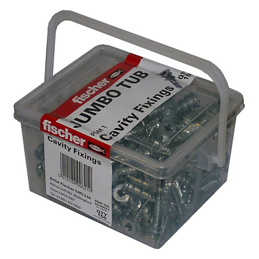 Fischer Pdm Metal Plasterboard Fixing Tub 150 Pack