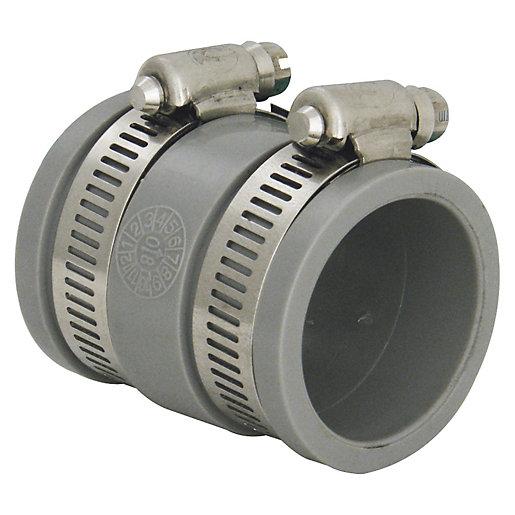 FloPlast WF07 FlexiFlo Waste Straight Coupling - 30mm