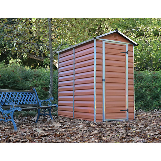 Palram 4 x 6 ft Skylight Amber Shed